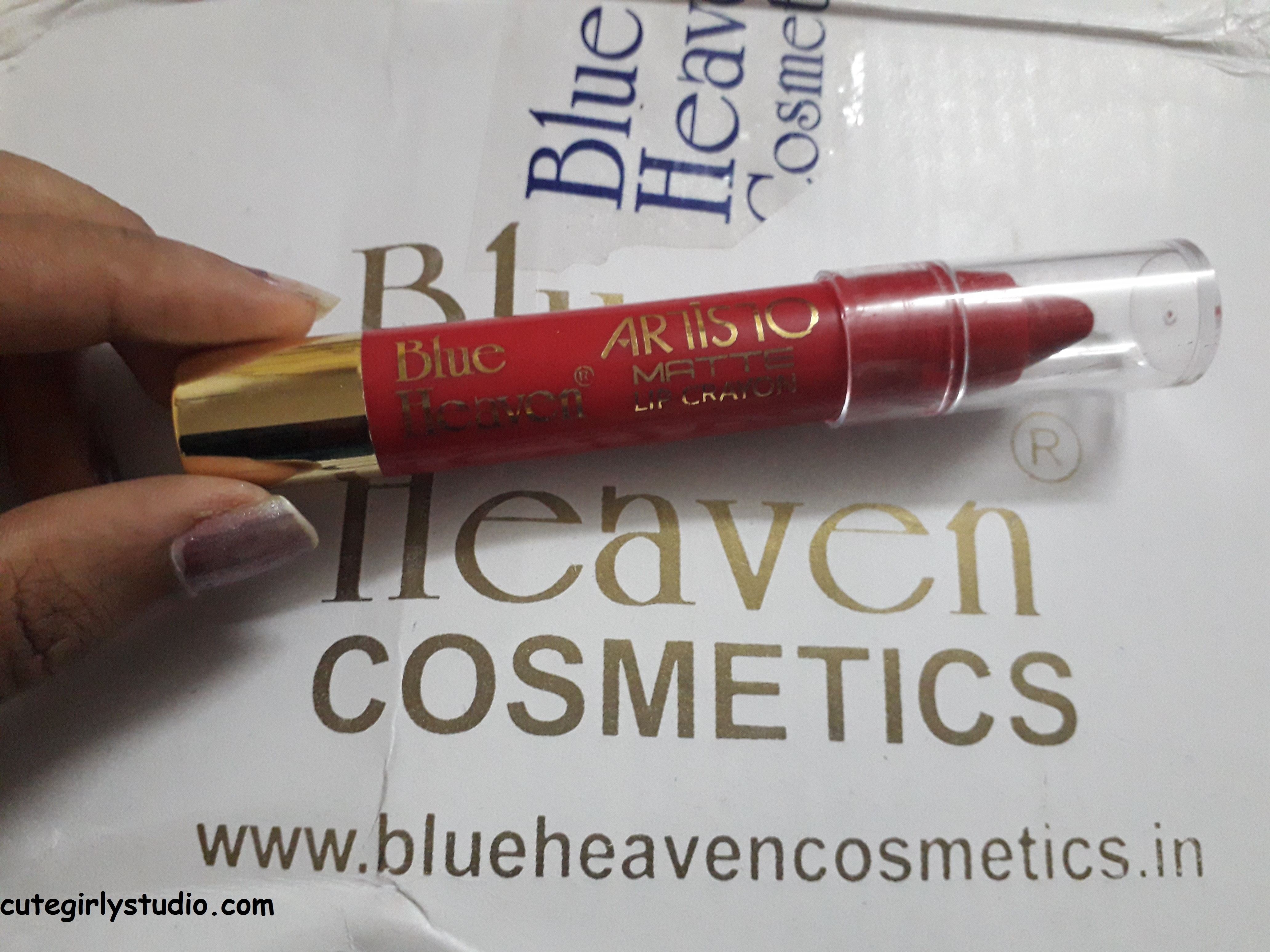 blue heaven lip crayon