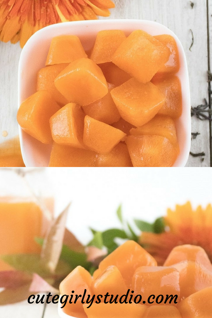 Anti ageing and anti acne Carrot ice cube for face