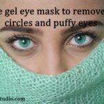 Overnight coffee gel eye mask for dark circles and puffy eyes