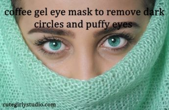 Overnight coffee gel eye mask for dark circles and puffy eyes