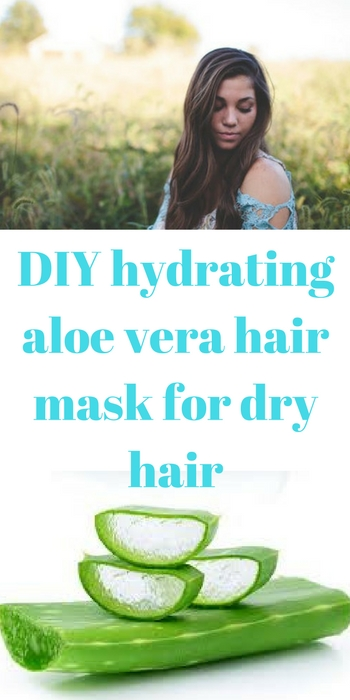 DIY hydrating aloe vera hair mask for dry hair
