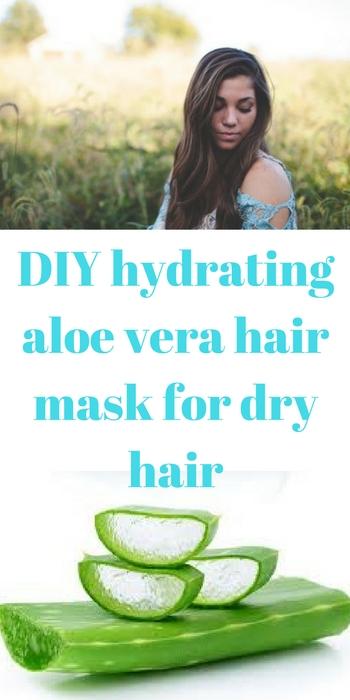 DIY hydrating aloe vera hair mask for dry hair