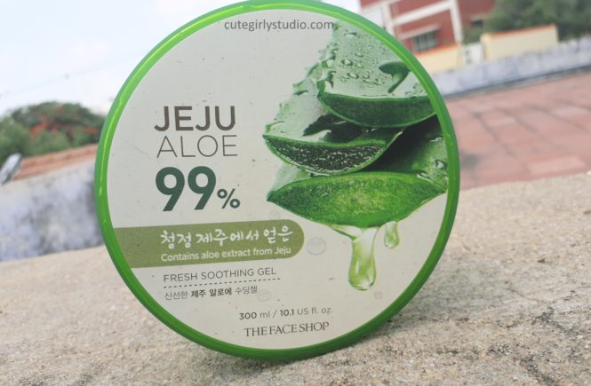 The face shop jeju aloe 99% fresh soothing gel | Review