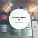 Skin care empties #1