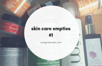 Skin care empties #1