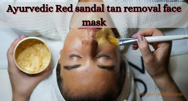 Red sandalwood tan removal face pack