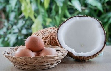 Egg and coconut oil hair mask
