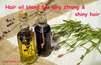 DIY hair oil blend for long strong and shiny hair