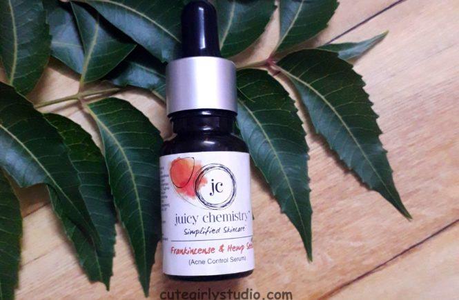 Juicy chemistry frankincense snd hemp seed acne control serum review