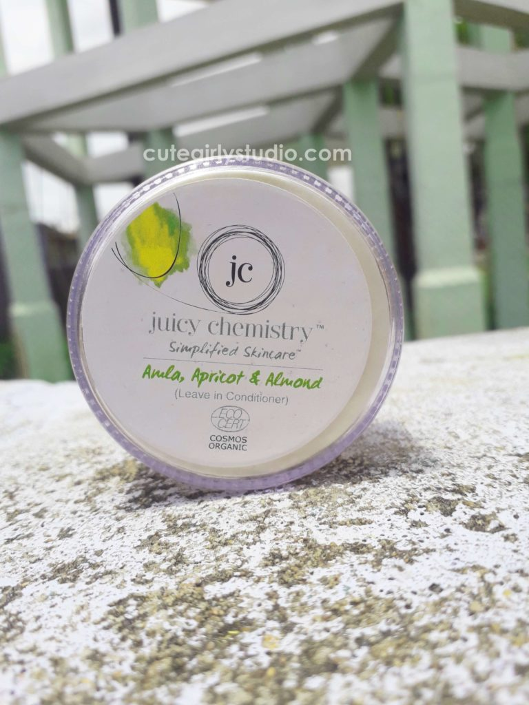 Juicy chemistry amla apricot and almond leave in conditioner review