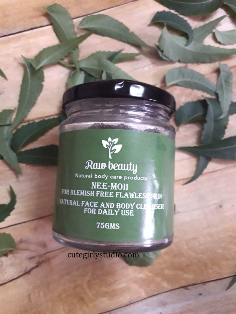 Raw beauty Nee moi face cleanser review