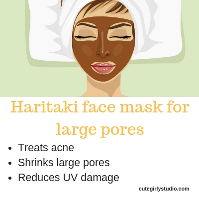 Haritaki face mask to shrink large pores