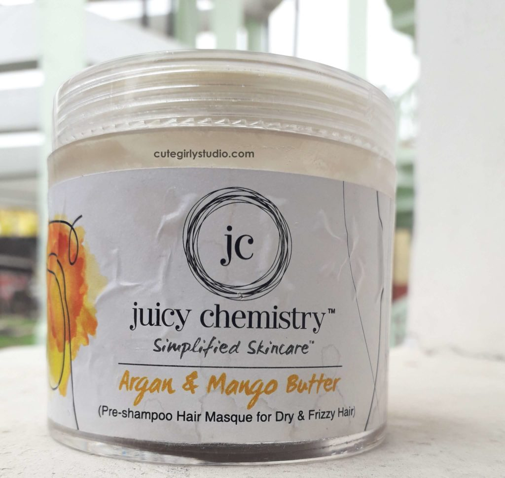 Juicy chemistry argan and mango butter hair masque
