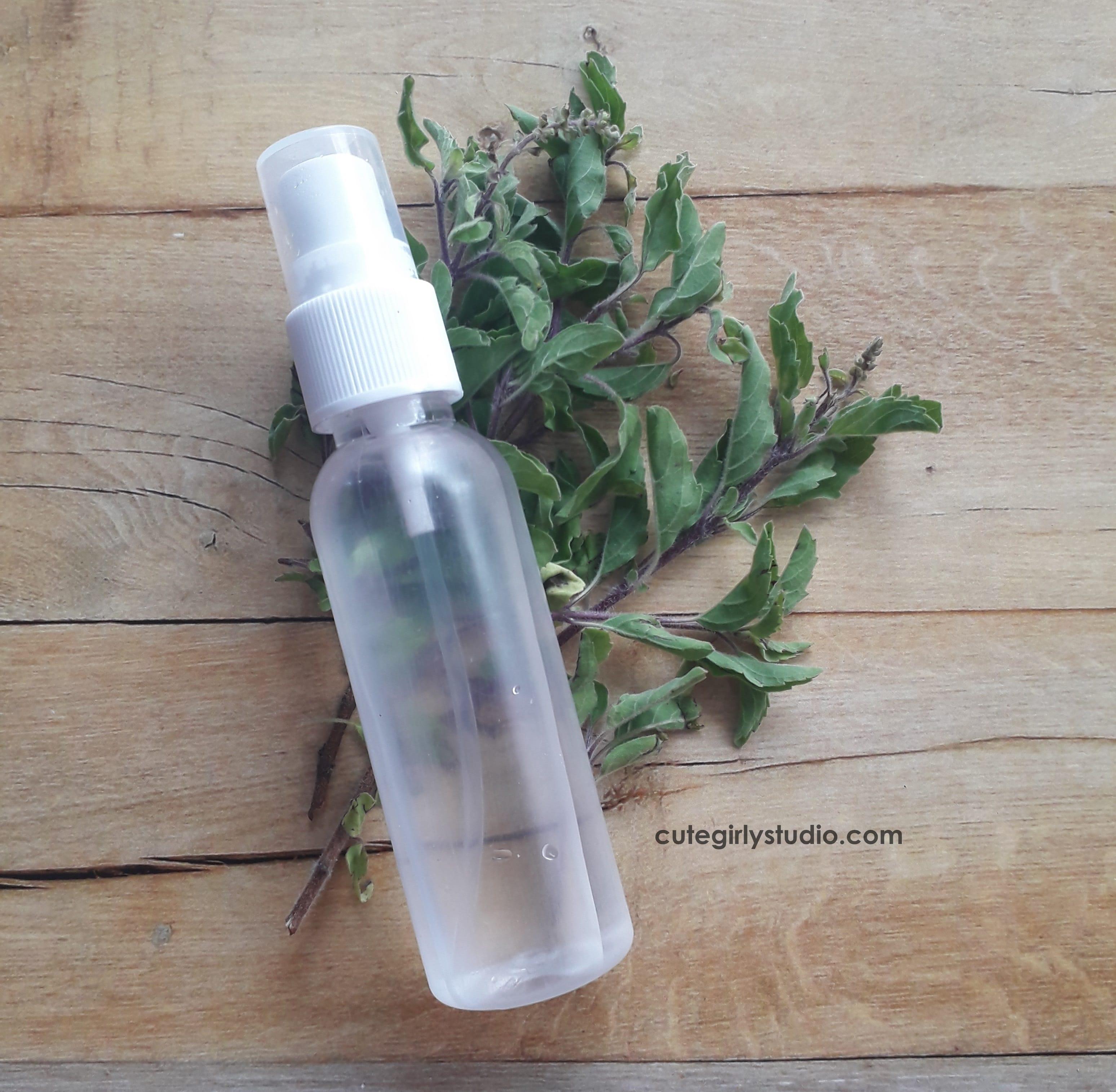 DIY - Distilled anti acne basil face mist