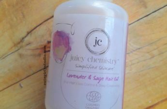 Juicy chemistry Lavender and sage hair oil review