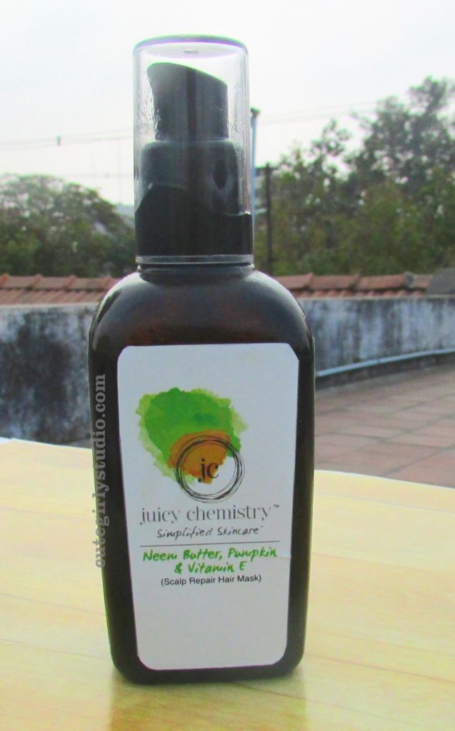 Juicy chemistry neem butter pumpkin and vitamin E scalp repair hair mask review