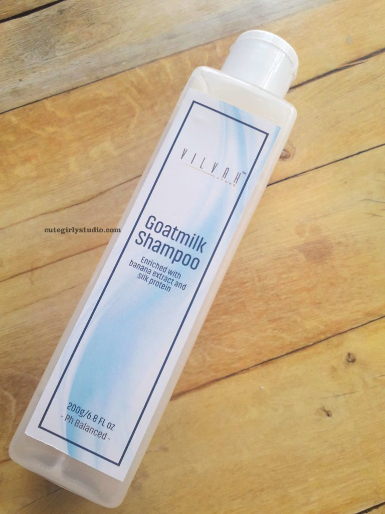 Vilvah goat milk shampoo review