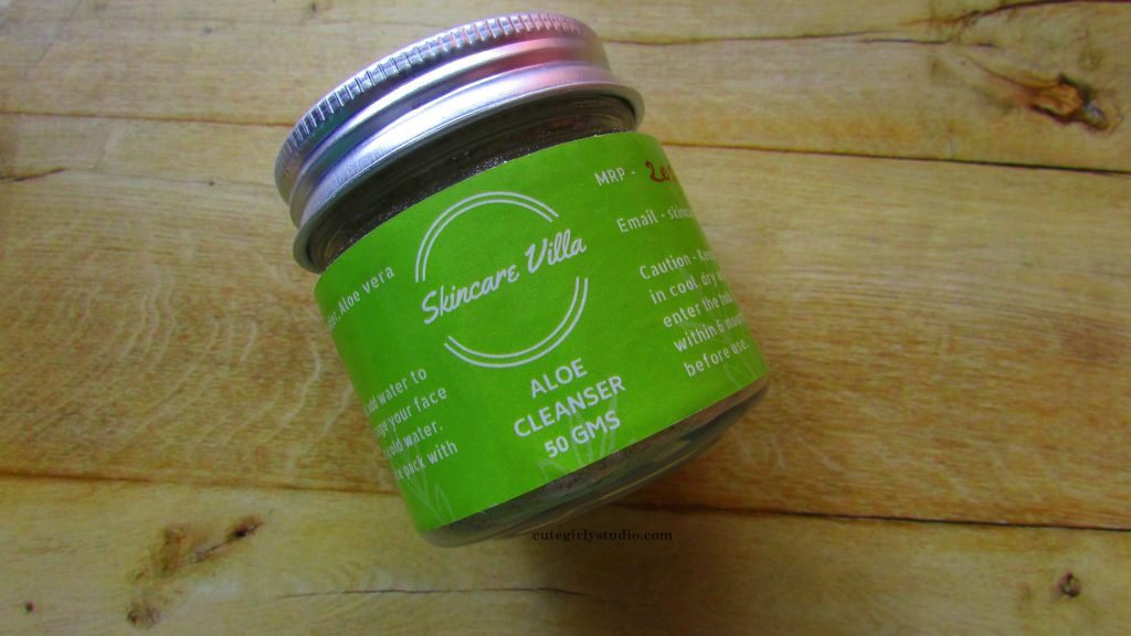 skincare villa aloe cleanser review