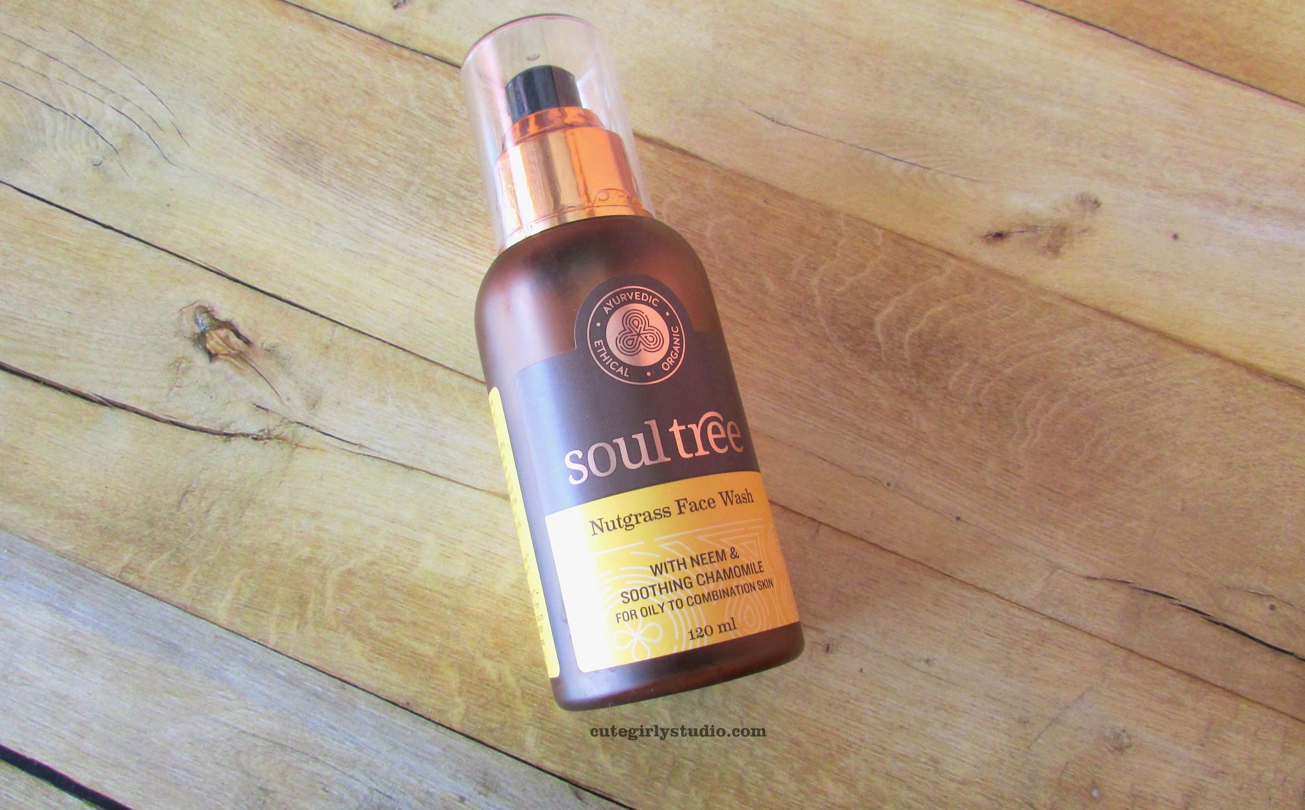Soultree nutgrass face wash with neem and chamomile review