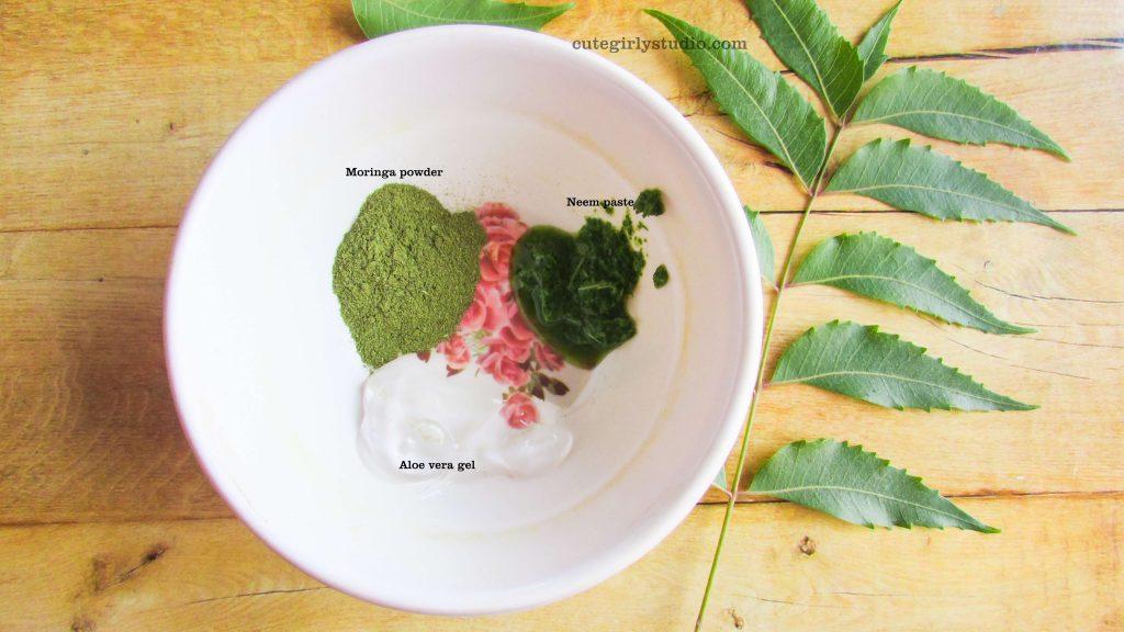 Homemade neem face mask for acne - DIY