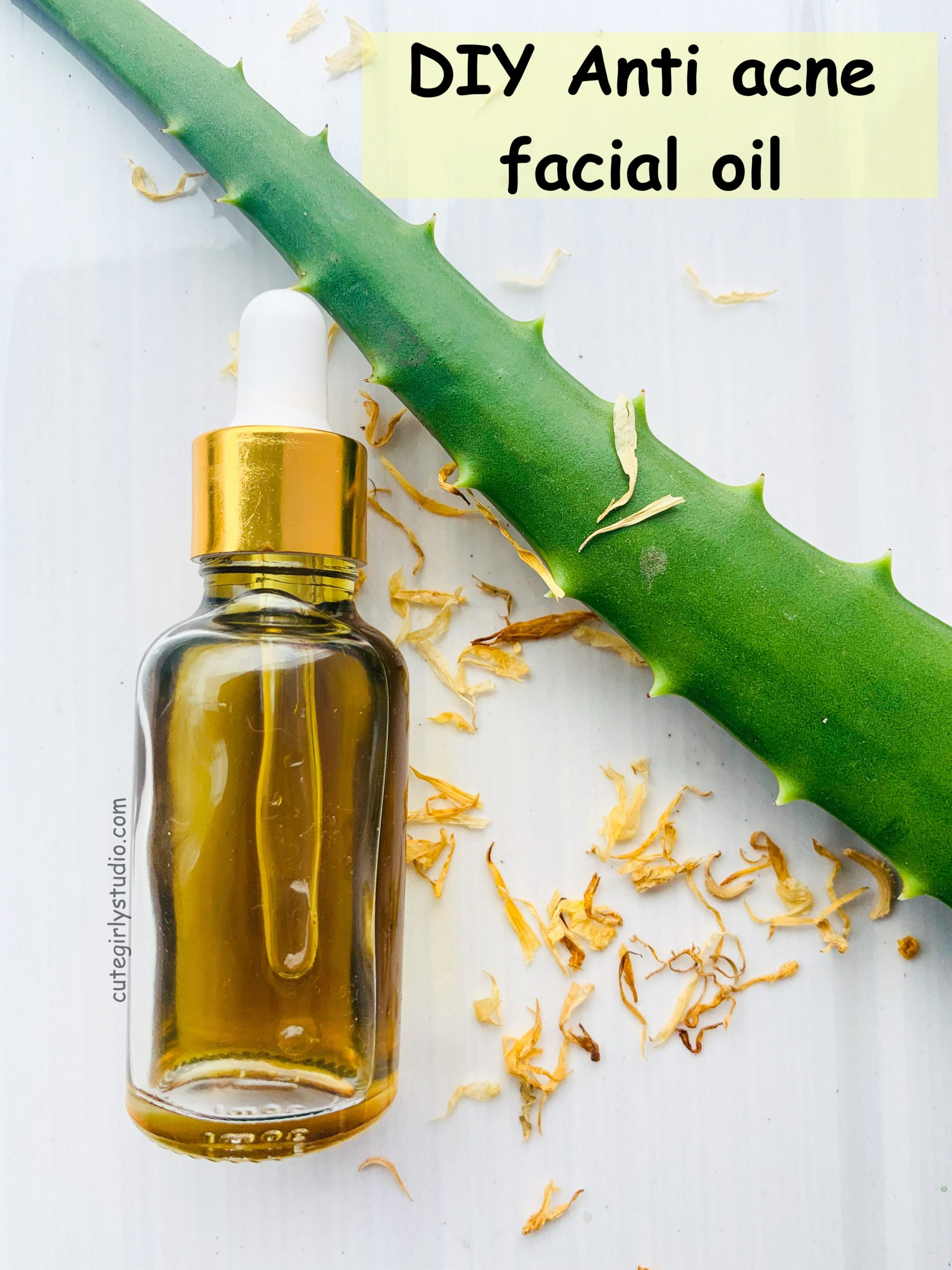 DIY ani acne facial oil