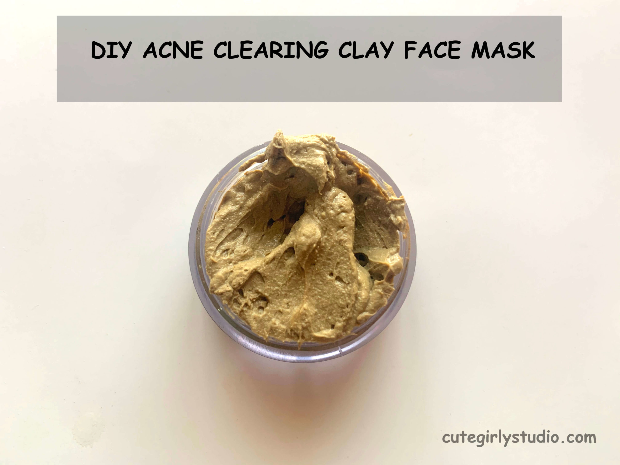 Acne clearing clay face mask