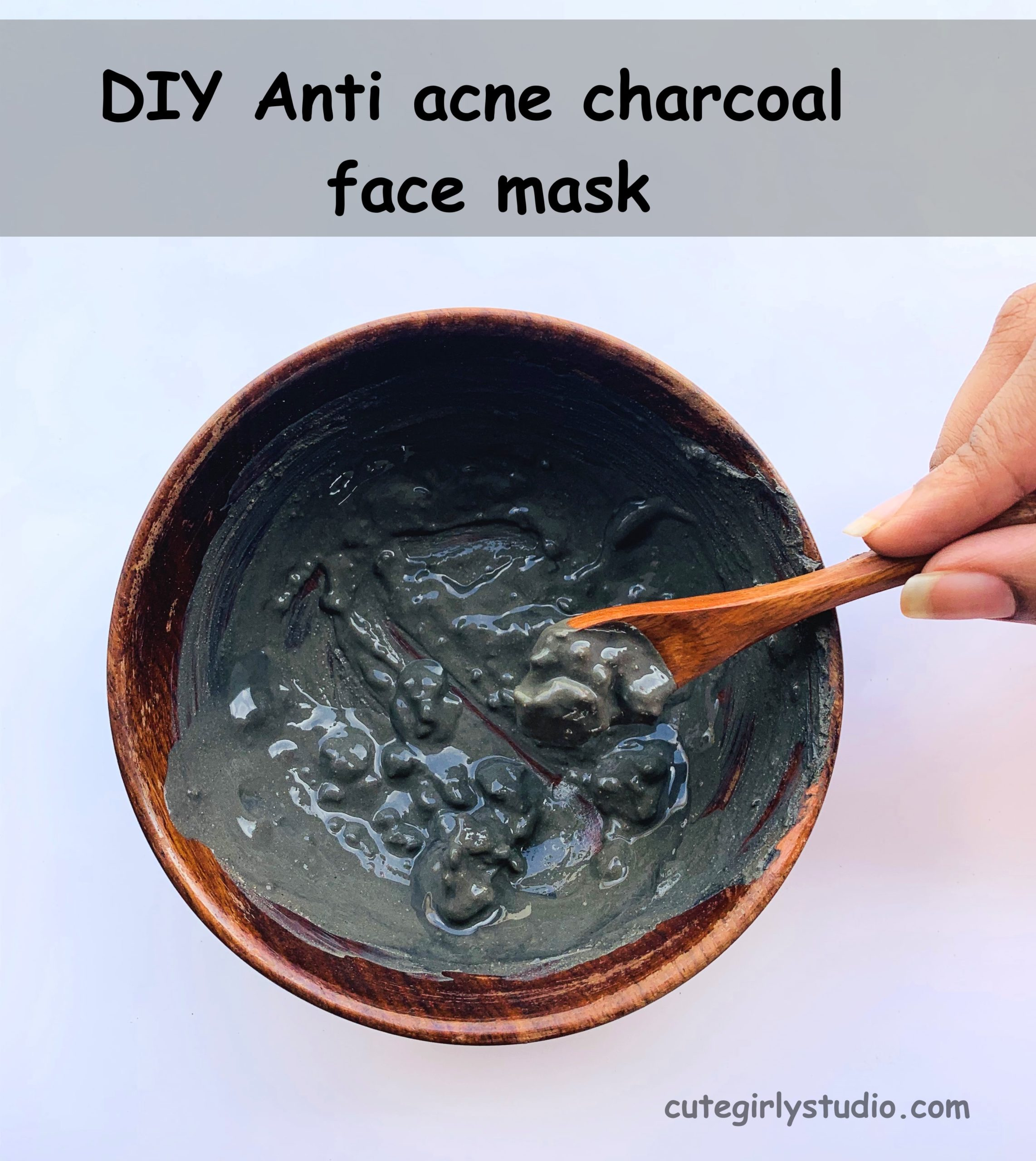 DIY Anti acne charcoal face mask
