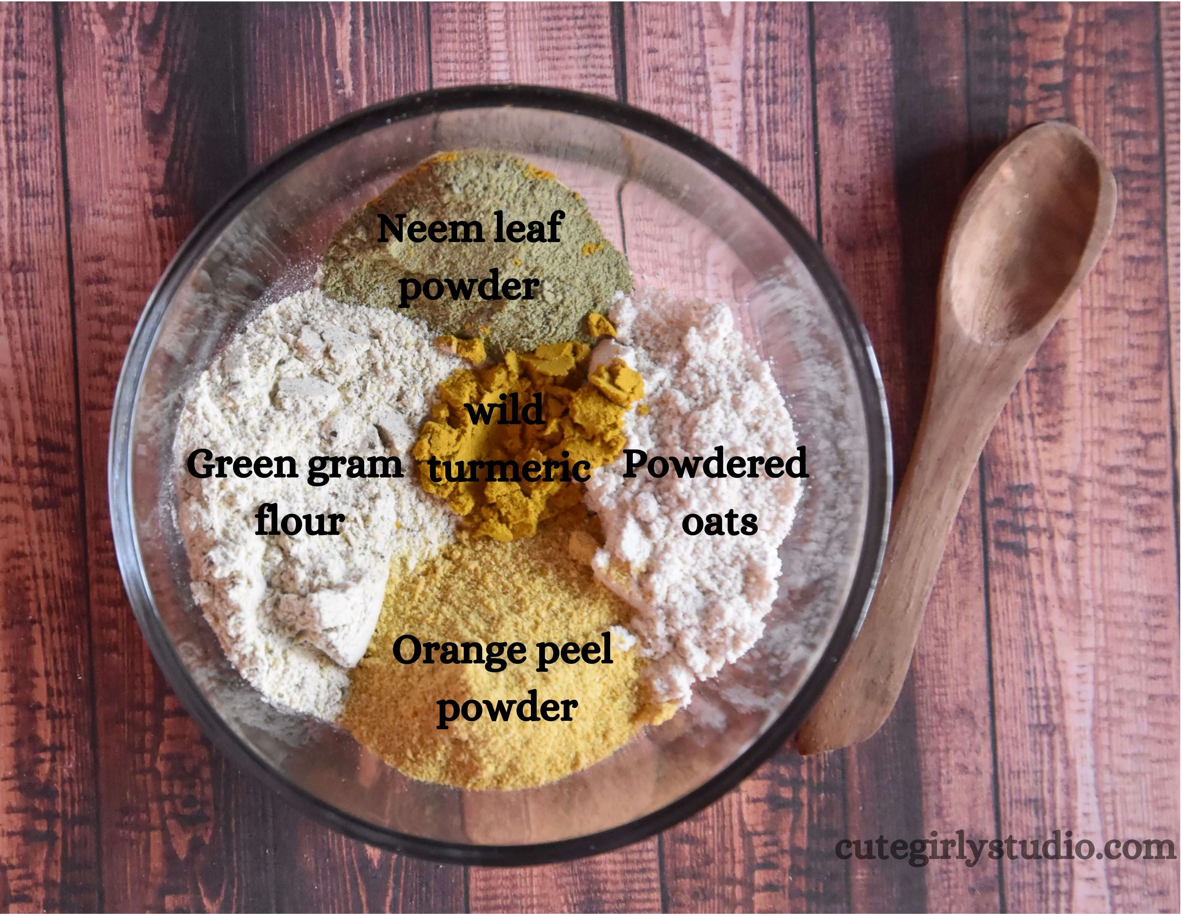 Homemade Cleansing grains for acne marks - DIY