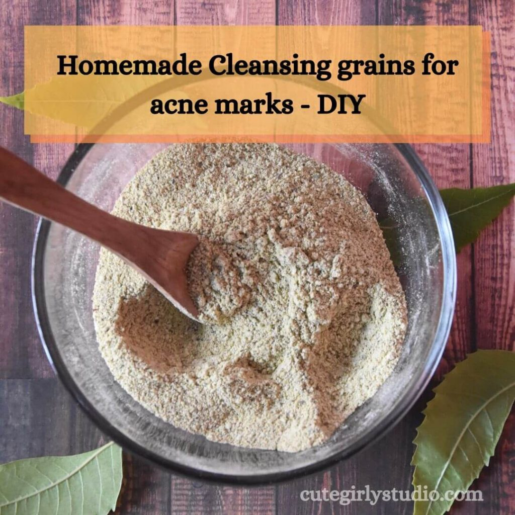 Homemade Cleansing grains for acne marks - DIY