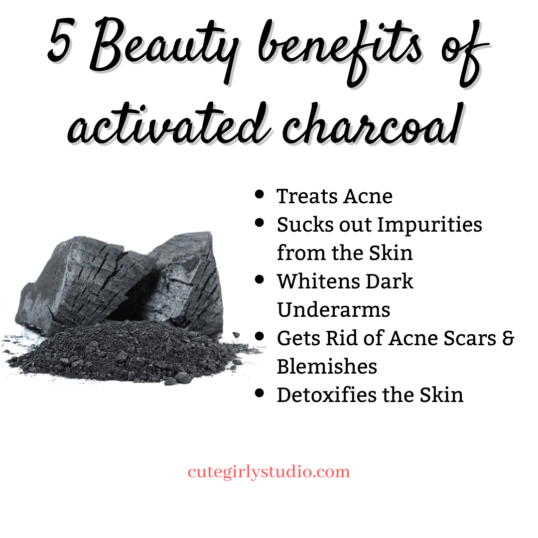 Top 5 benefits of Activated charcoal for the skin