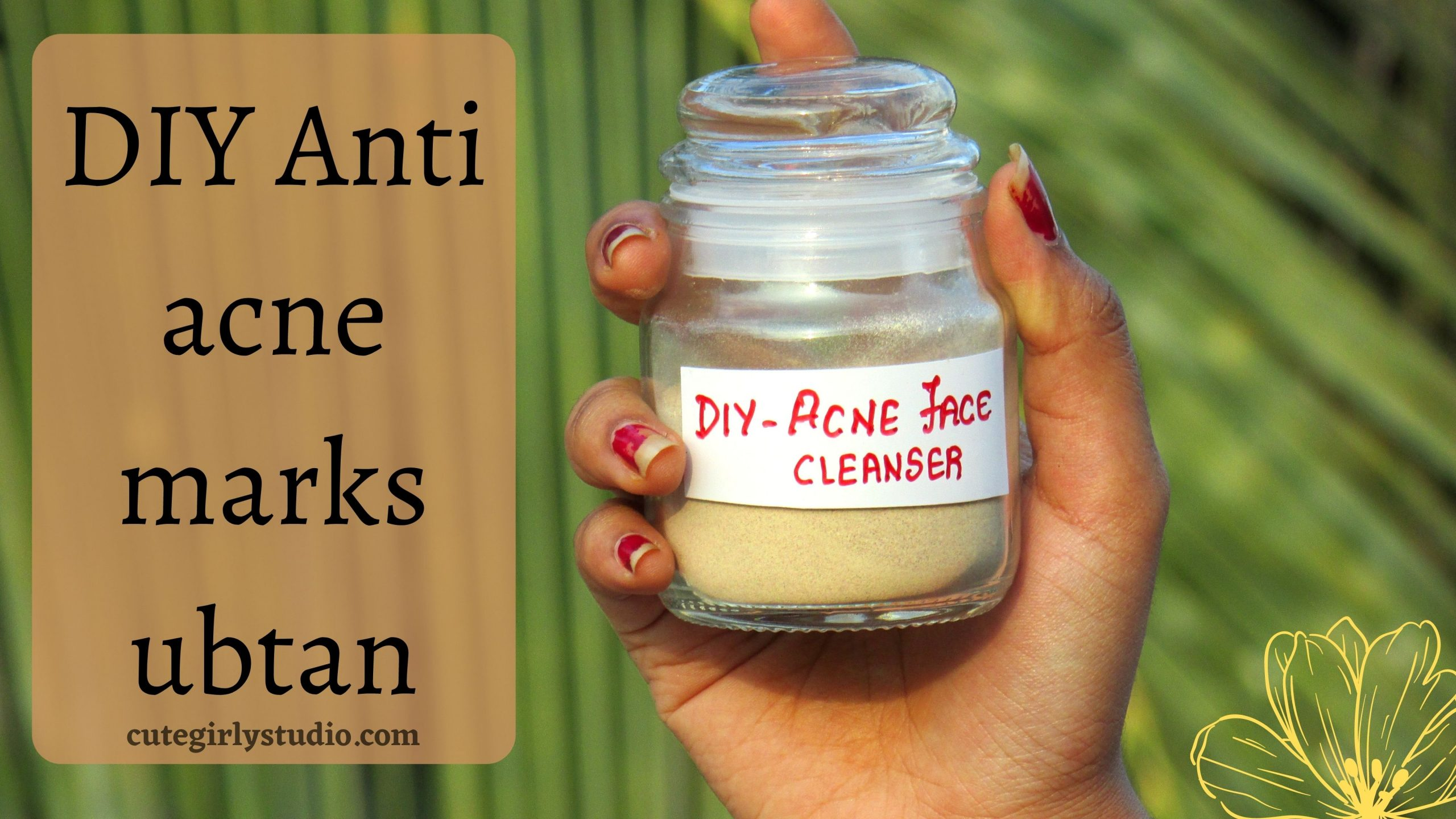 DIY Anti Acne Marks Ubtan