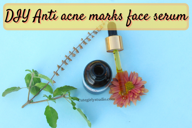 DIY Anti acne marks face serum