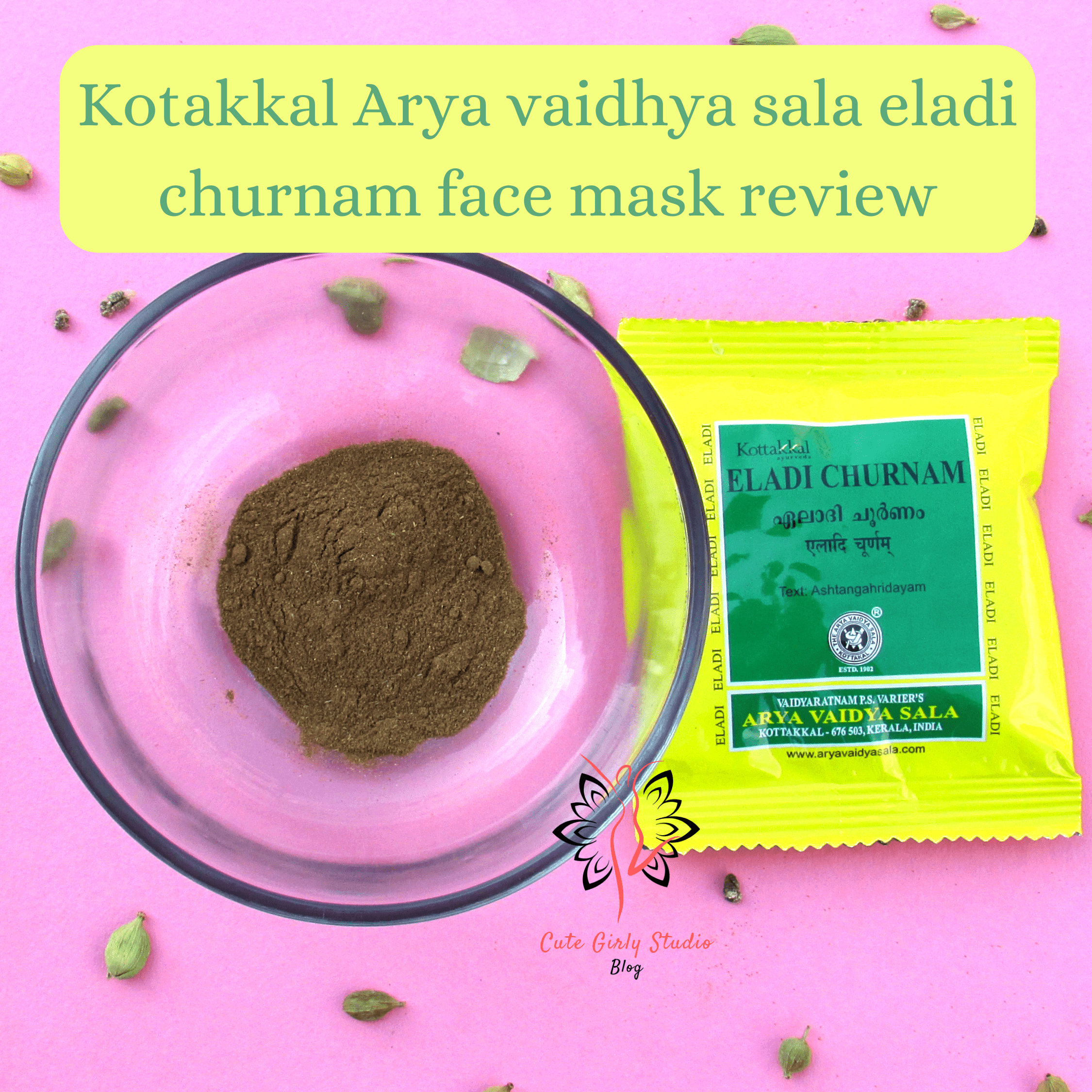 Kotakkal Eladi churnam face mask review