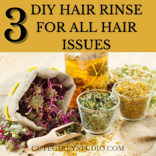 DIY Hair rinse for all hair issues featured