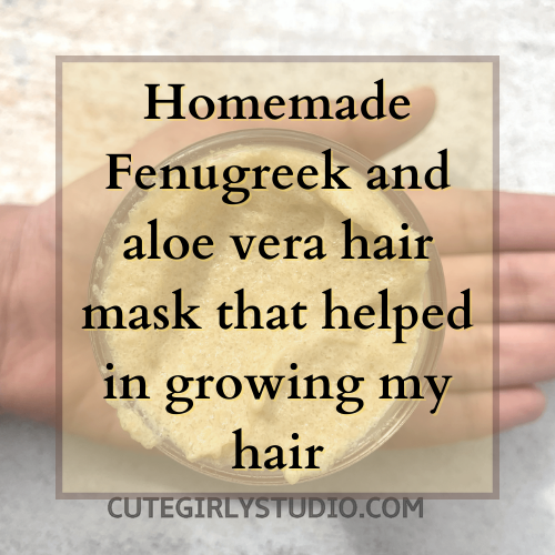 Homemade Fenugreek and aloe vera hair mask featured
