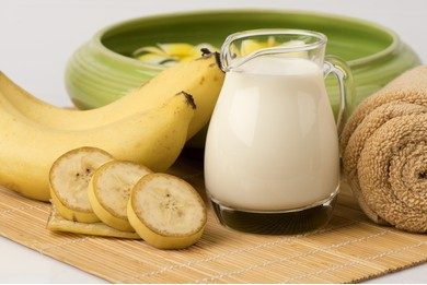Banana milk and jaggery face mask for glowing skin