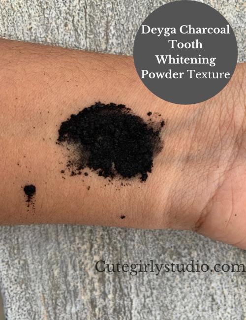 Deyga Charcoal Tooth Whitening Powder Texture
